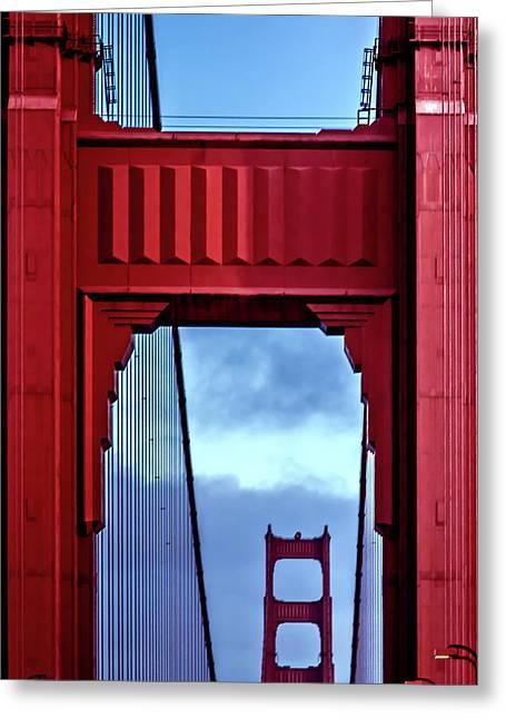 Big Red Greeting Card by Az Jackson