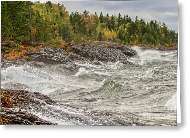 Big Waves In Autumn Greeting Card