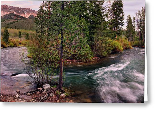 Big Wood River Curve 2 Greeting Card by Leland D Howard