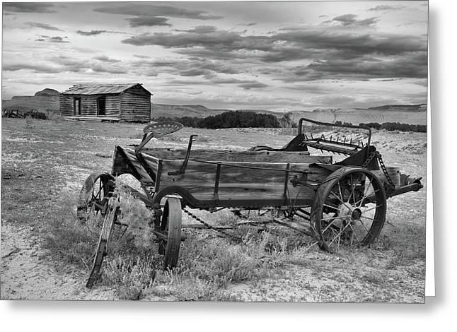 Bighorn Basin History Greeting Card by Leland D Howard