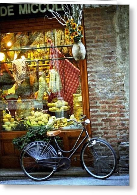 Bike In Sienna Greeting Card