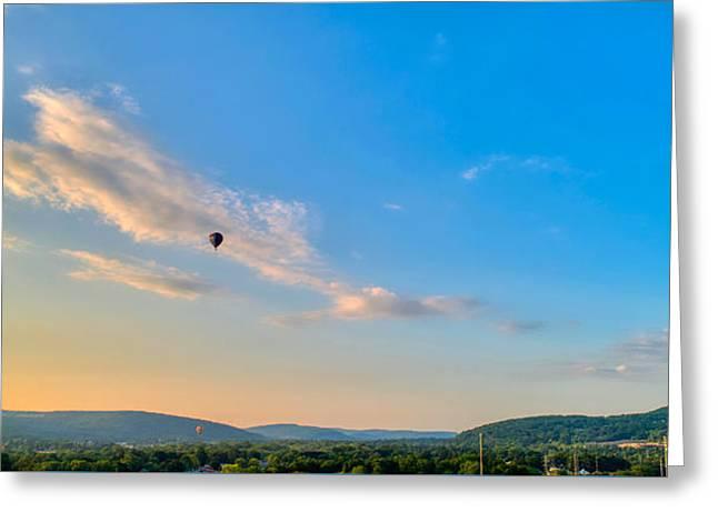 Binghamton Spiedie Festival Air Ballon Launch Greeting Card