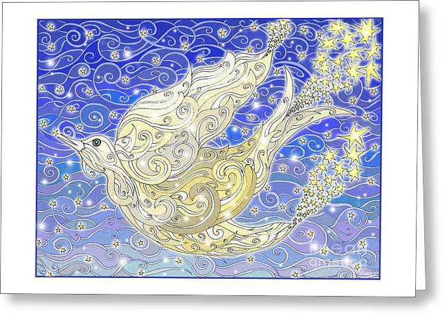 Bird Generating Stars Greeting Card