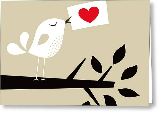 Bird Love Card Greeting Card