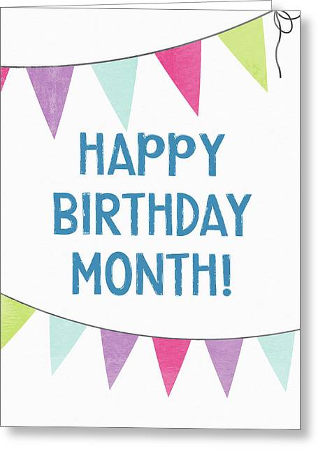 Birthday Month Flags- Art By Linda Woods Greeting Card