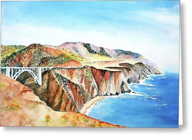 Bixby Bridge 3 Big Sur California Coast Greeting Card