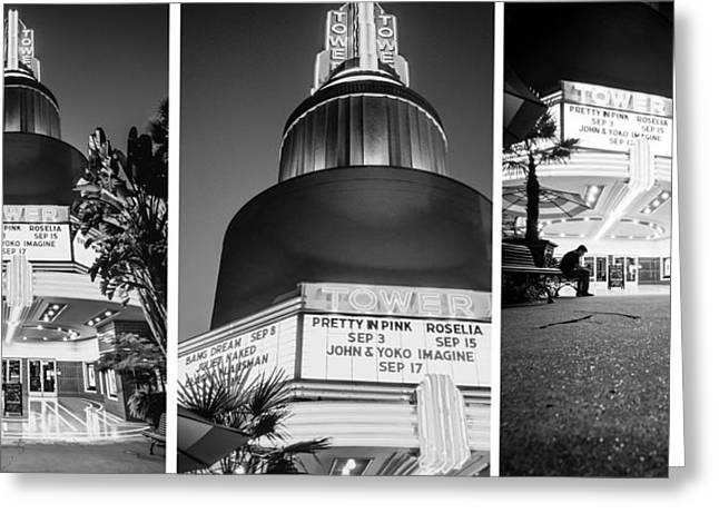 Greeting Card featuring the photograph Black And White Triptych- by JD Mims
