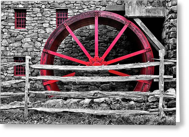 Black And White With Red - Grist Mill Greeting Card