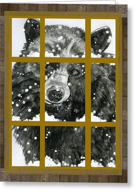 Black Bear, Outside My Window Greeting Card