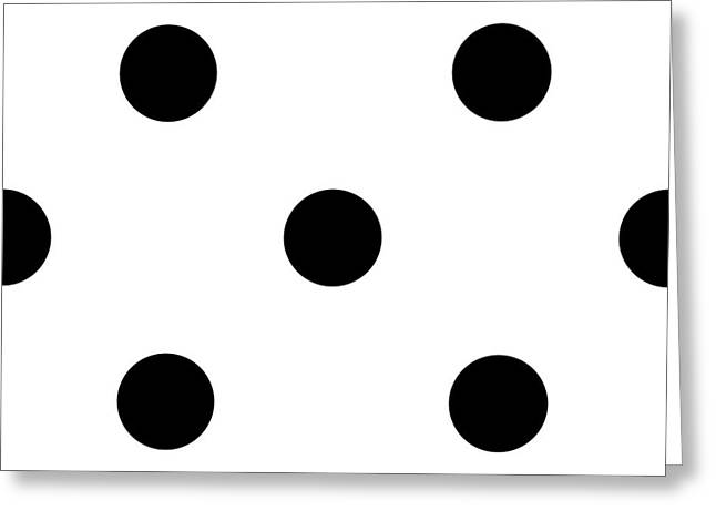 Black Dots On A White Background- Ddh610 Greeting Card