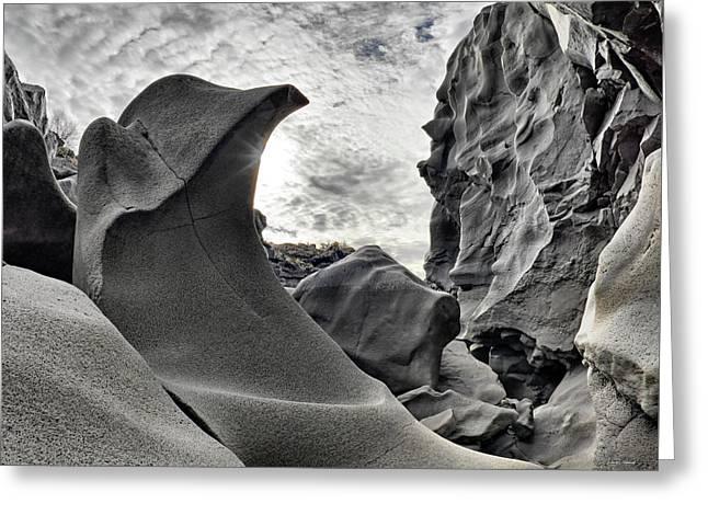 Black Magic Canyon Greeting Card by Leland D Howard