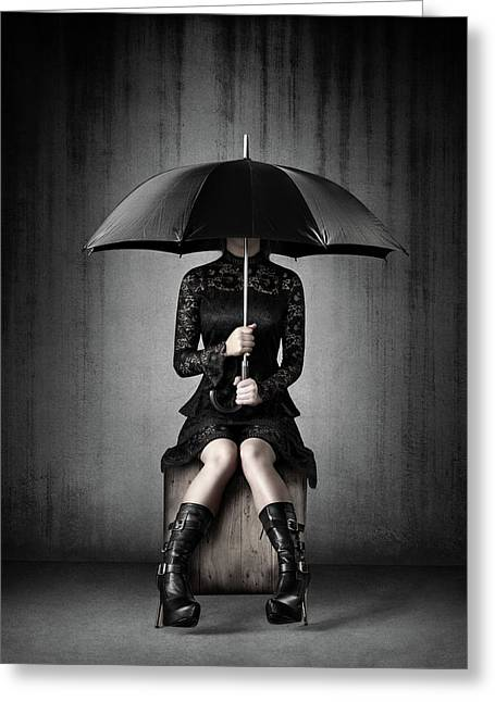 Black Rain Greeting Card