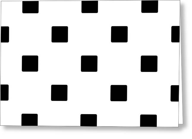 Black Squares On A White Background- Ddh574 Greeting Card