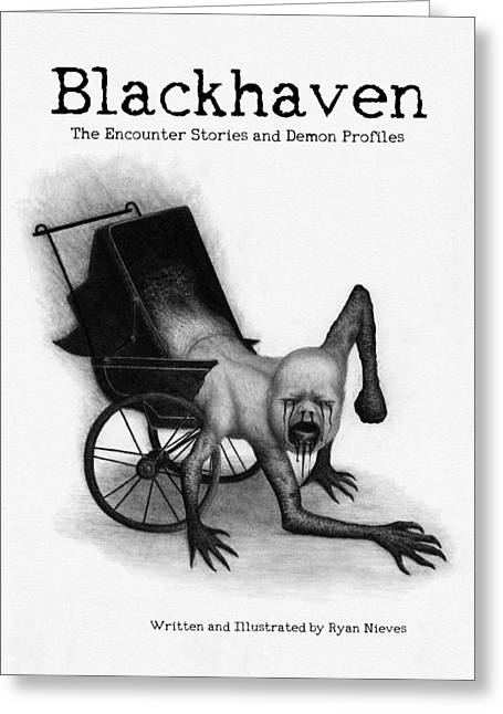 Blackhaven The Encounter Stories And Demon Profiles Bookcover, Shirts, And Other Products Greeting Card