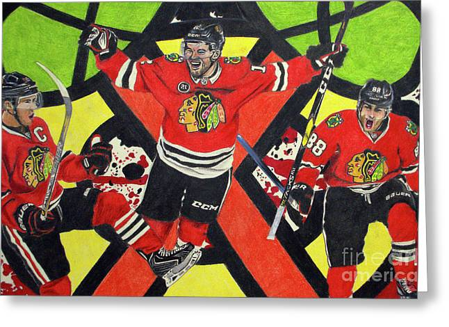 Blackhawks Authentic Fan Limited Edition Piece Greeting Card