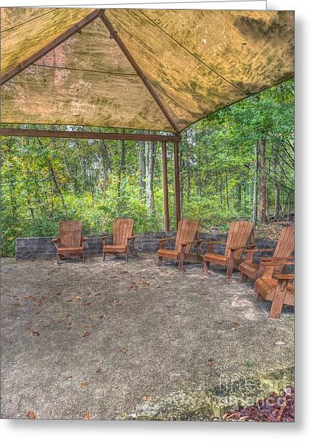 Blacklick Woods - Chairs Greeting Card