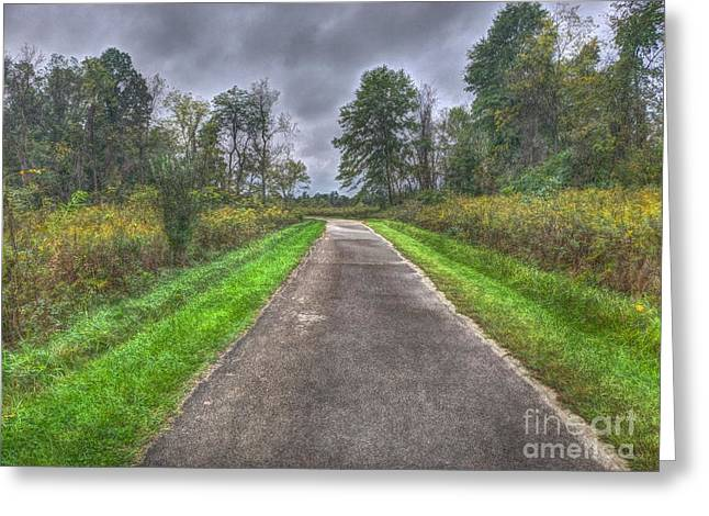 Blacklick Woods Pathway Greeting Card
