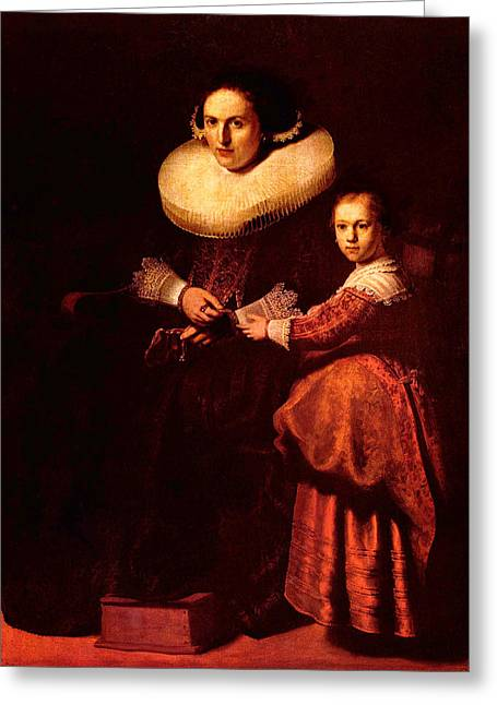 Blend I Rembrandt Greeting Card