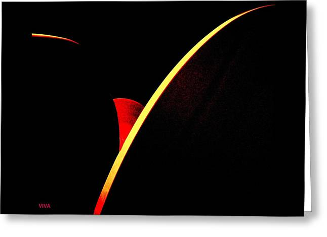 Bloodmoonrise Abstract Greeting Card