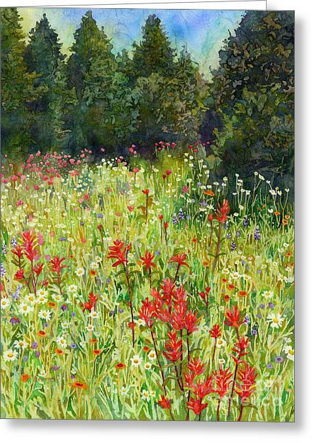 Blooming Field Greeting Card