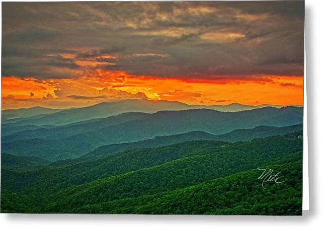 Greeting Card featuring the photograph Blowing Rock Sunset by Meta Gatschenberger
