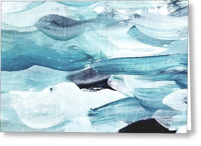 Greeting Card featuring the painting Blue #13 by Maria Langgle