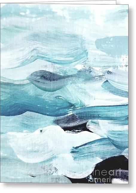 Greeting Card featuring the painting Blue #14 by Maria Langgle
