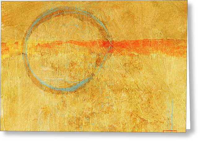 Blue Enso On Plaster Greeting Card