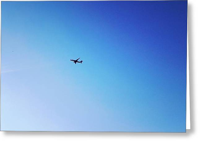 Greeting Card featuring the photograph Blue Freedom by Lucia Sirna