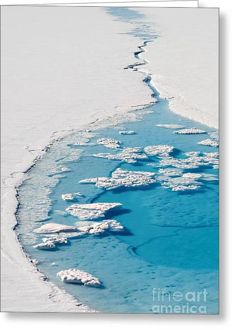 Blue Glacier Lake Greeting Card