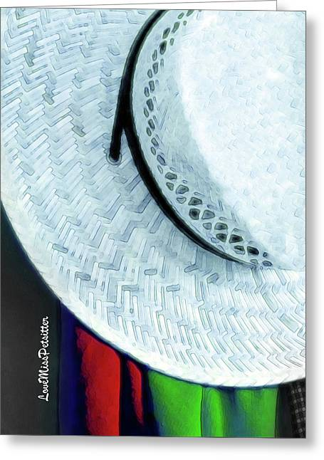 Blue Hat Painting 2 Greeting Card
