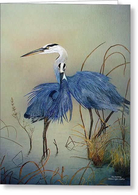 Blue Herons Pinot Gris Greeting Card