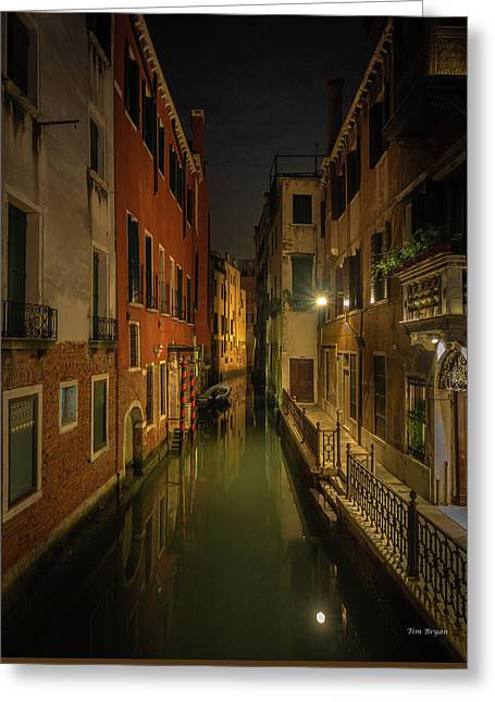Greeting Card featuring the photograph Blue Hour In Venice by Tim Bryan