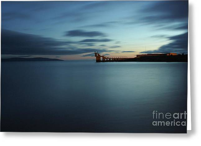 Blue Hour Salthill Greeting Card