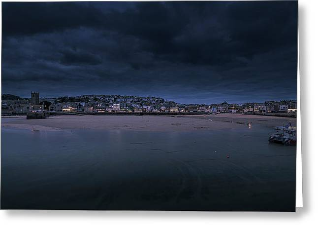 Blue Hour - St Ives Cornwall Greeting Card