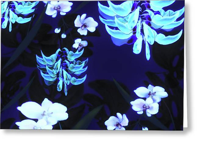 Blue Jungle Floral Greeting Card