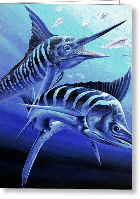 Blue Marlins Greeting Card