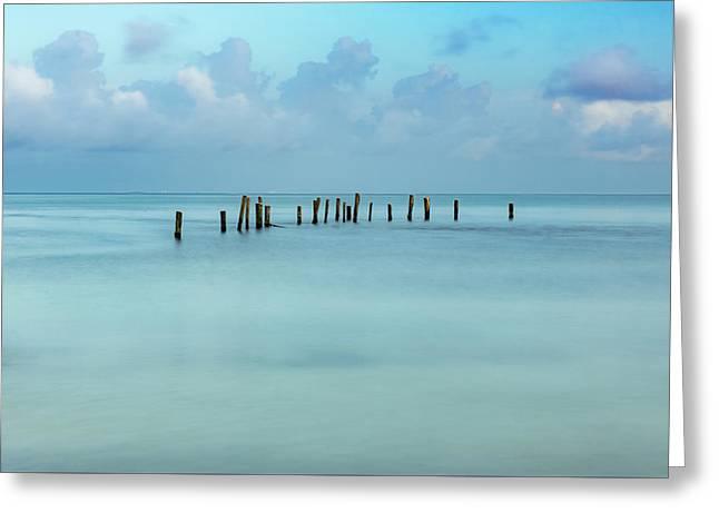 Blue Mayan Sea Greeting Card