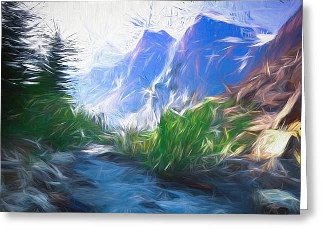 Blue Montains Greeting Card