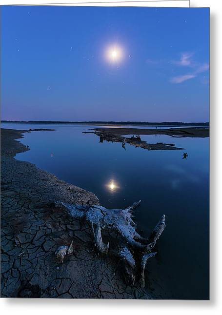 Blue Moonlight Greeting Card