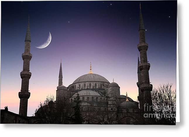 Blue Mosque - Istanbul  Turkey Greeting Card
