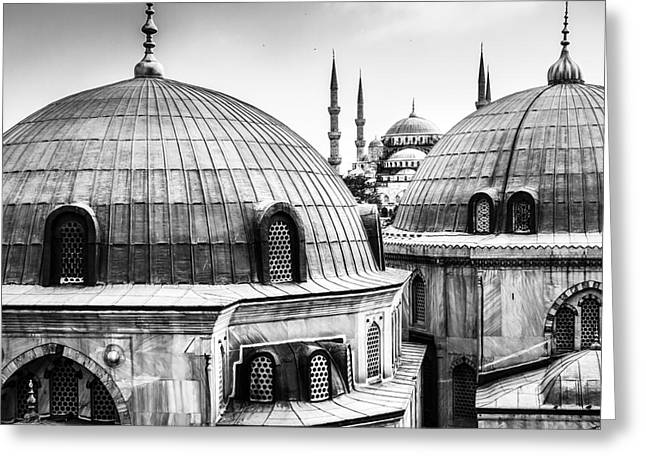 Blue Mosque Or Sultan Ahmed Mosque Greeting Card