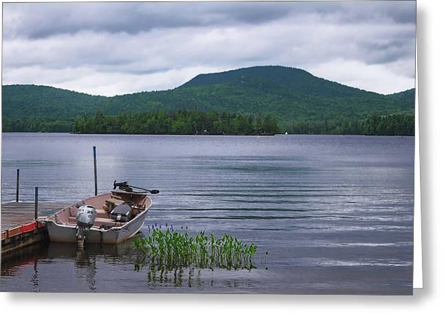 Blue Mountain Lake Greeting Card