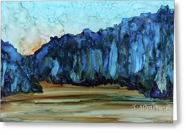 Blue Mountains II Greeting Card