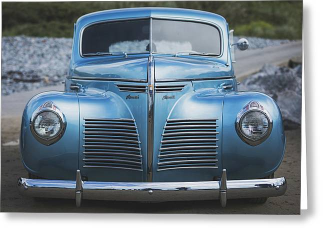 Blue Plymouth Greeting Card