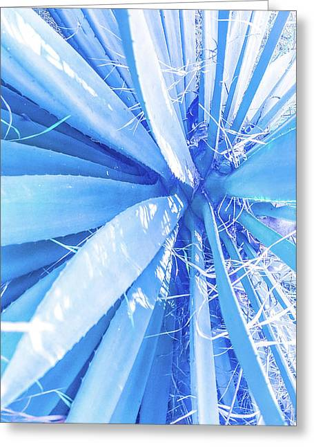 Blue Rays Greeting Card