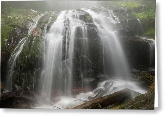 Blue Ridge Mountain Falls Greeting Card
