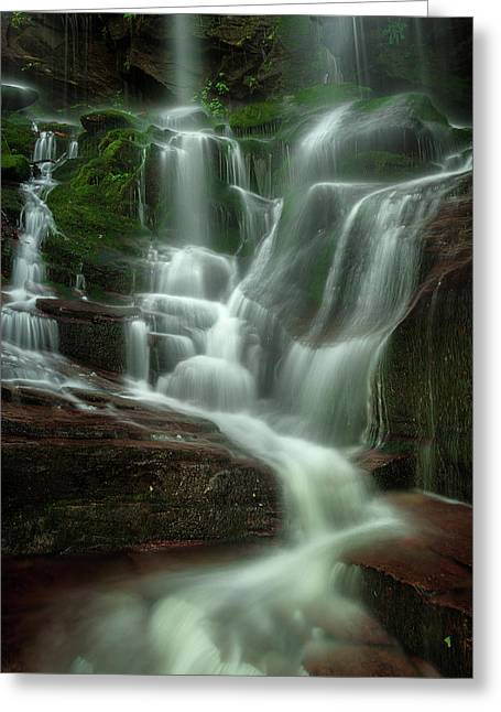 Blue Ridge Mountains Cascade Greeting Card