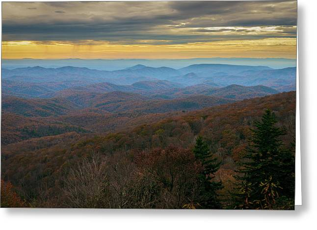 Blue Ridge Parkway - Blue Ridge Mountains - Autumn Greeting Card