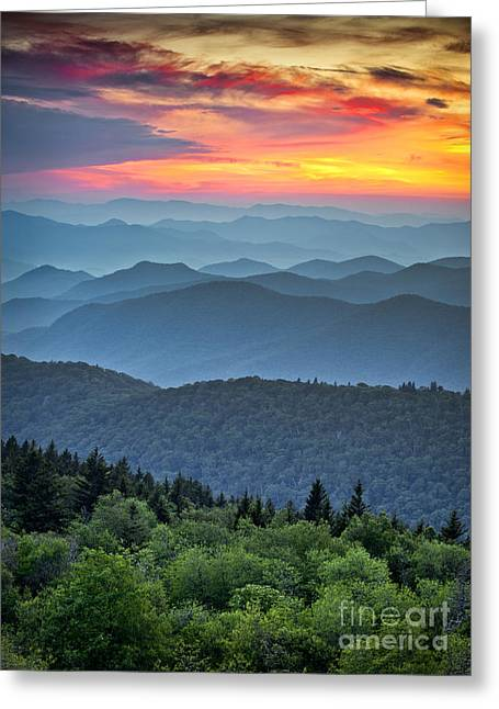 Blue Ridge Parkway Scenic Landscape Greeting Card